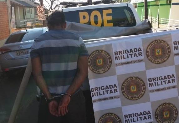 BM de Ijuí detém homem que deveria estar cumprindo prisão domiciliar em Cruz Alta