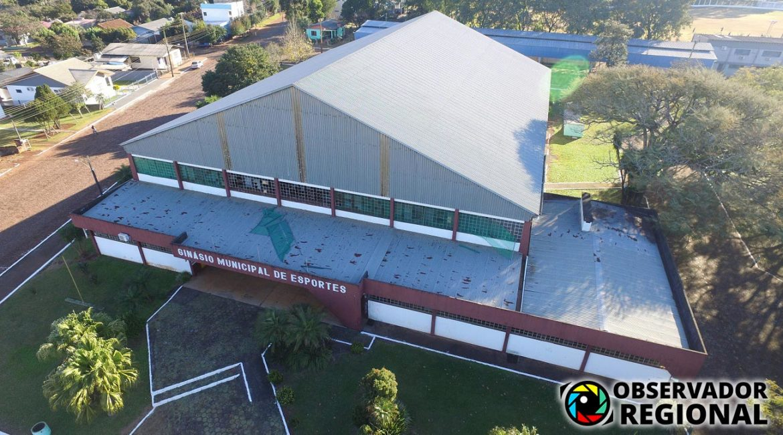 Campo Novo: Prefeito Sartori anuncia revitalização do ginásio de esportes
