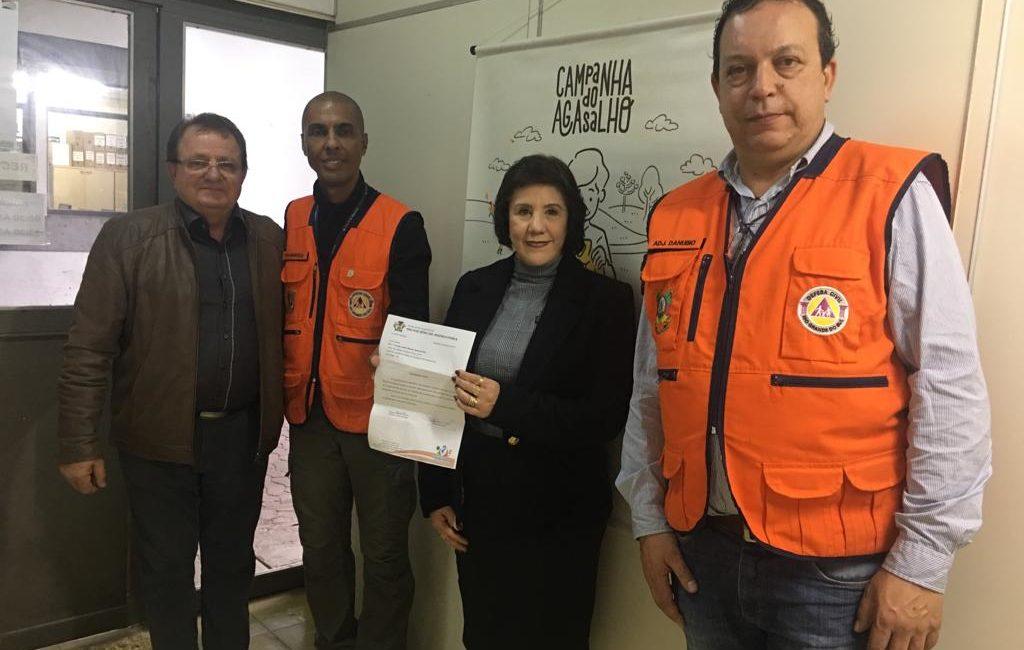 Campanha do Agasalho em Redentora: Prefeito Nilson e primeira dama Eliane agradecem doações da Defesa Civil