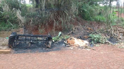 Entulhos foram incendiados em Crissiumal
