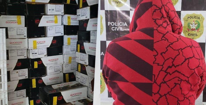 Polícia recupera, em SC, carga de carne bovina roubada em São Luiz Gonzaga