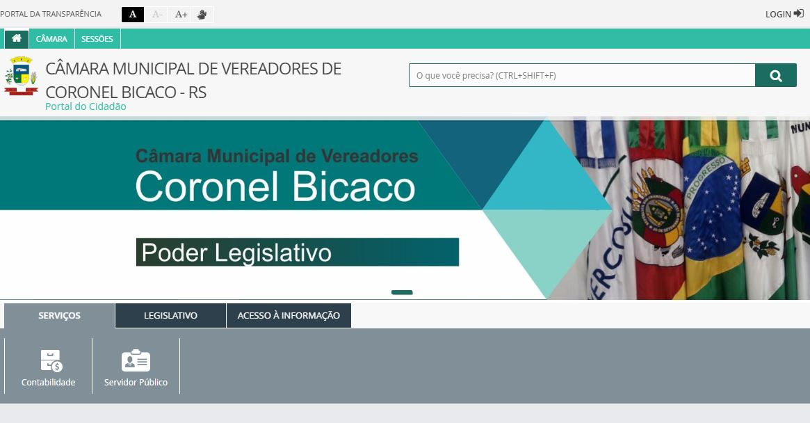 Coronel Bicaco: Câmara de Vereadores tem novo website
