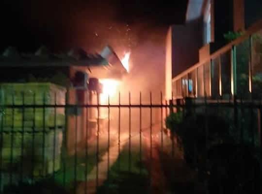 Incêndio na Delegacia de Polícia no Noroeste do RS