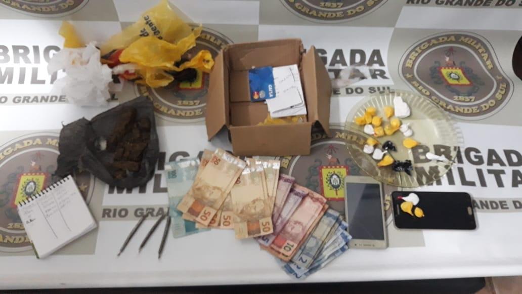 Santa Rosa: Duas pessoas são presas por tráfico de drogas
