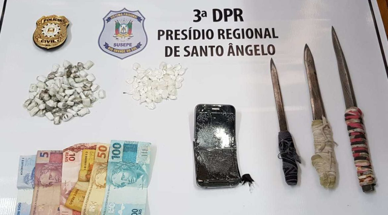 Policia apreende cocaína e maconha em duas celas no Presídio Regional de Santo Ângelo