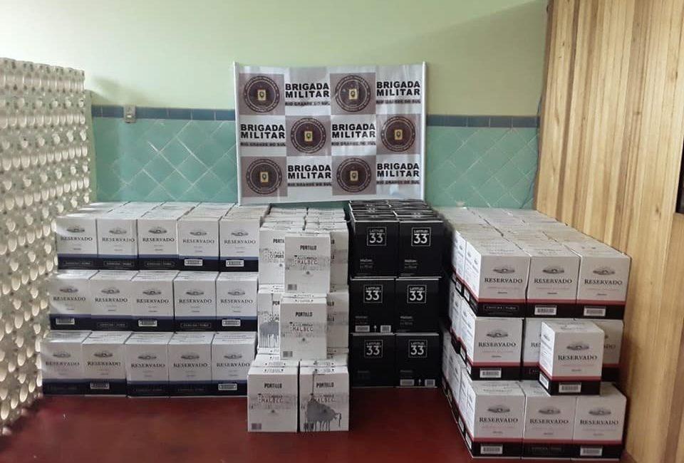 Brigada Militar divulga aumento nas apreensões de produtos contrabandeados na Região Celeiro