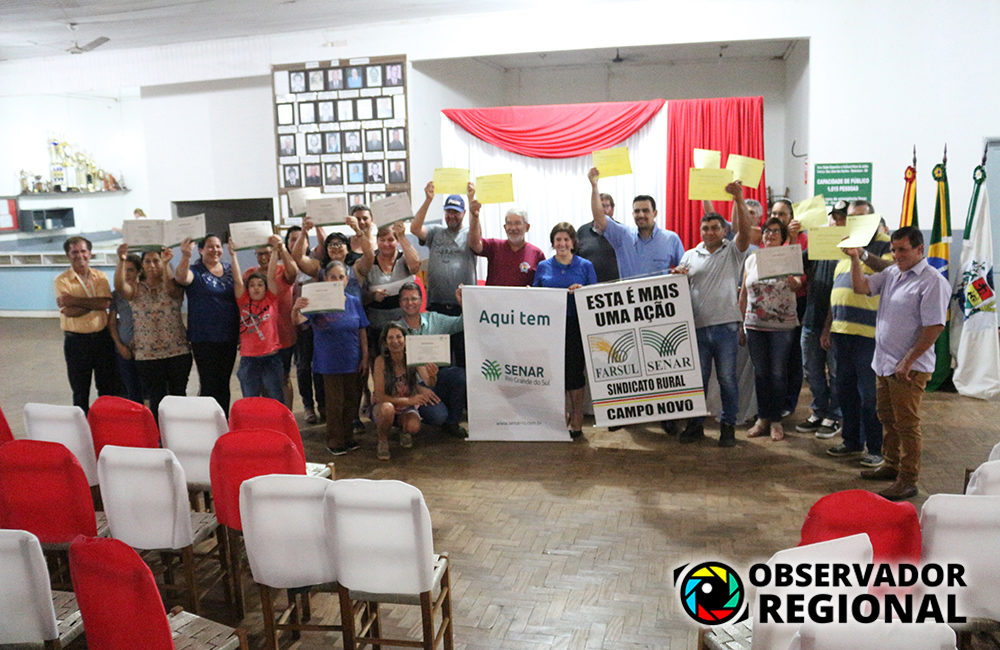 Redentora: Administração Municipal realizou entrega de certificados dos cursos do Senar