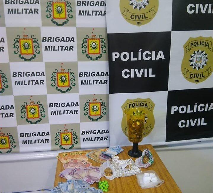 Brigada Militar e Polícia Civil prendem mulher por tráfico de drogas em Três Passos