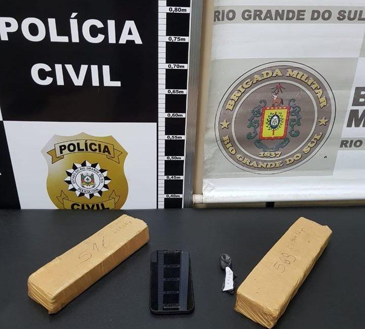 BM e PC prendem homem por tráfico de drogas em Santa Rosa