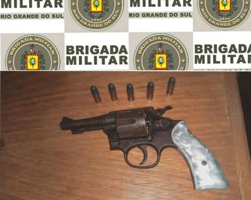 Homem foi detido por porte ilegal de arma de fogo em Crissiumal