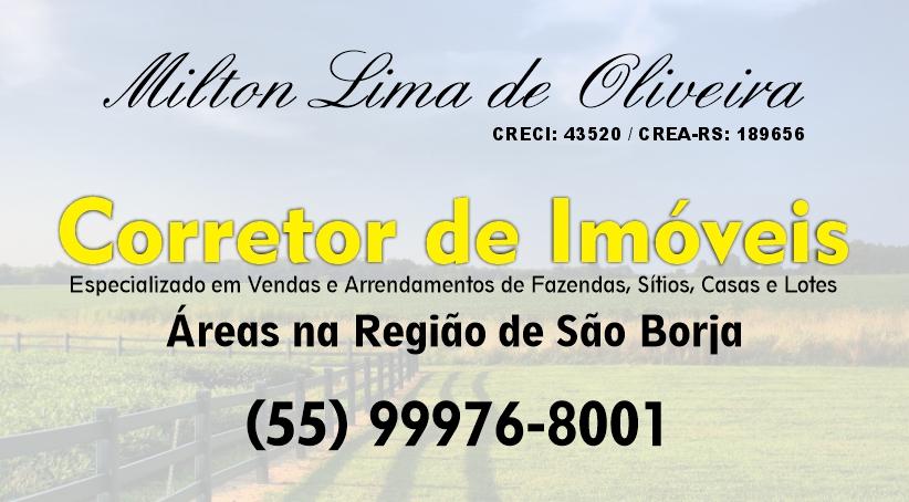 Corretor de Imóveis Milton Lima de Oliveira