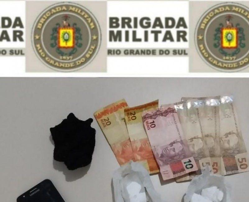 7º BPM efetua prisão por tráfico de drogas em São Martinho