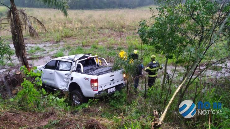 VÍDEO – Acidente envolvendo veículo emplacado em Coronel Bicaco na BR 472