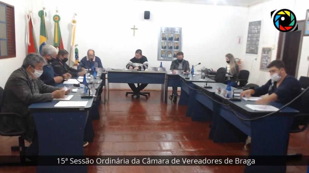 15ª Sessão Ordinária de 2020 da Câmara de Vereadores de Braga/RS