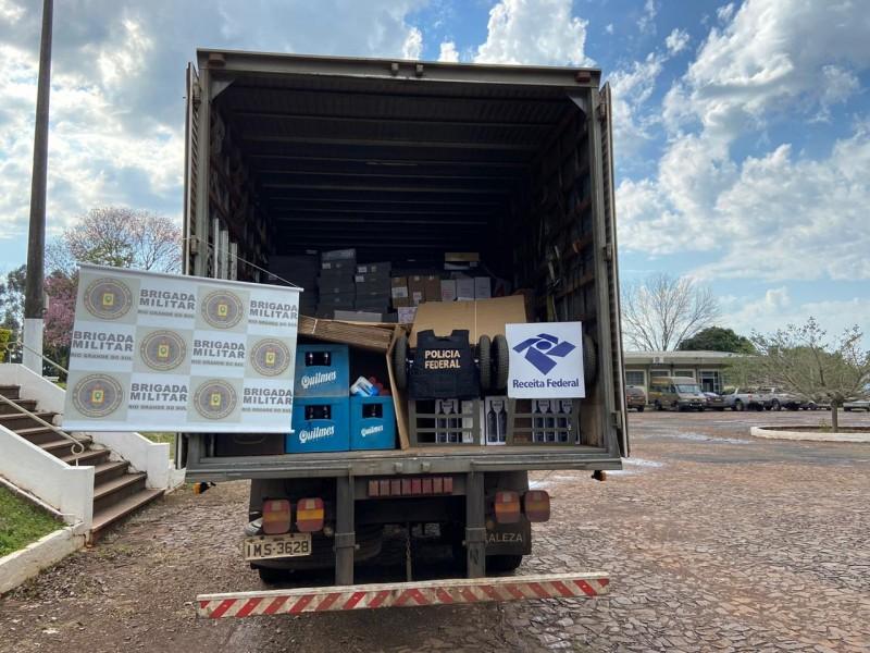 Tiradentes do Sul: 7º BPM em ação conjunta com Polícia Federal e Receita Federal desencadeiam operação de combate ao contrabando e descaminho
