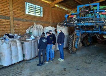 Polícia Civil apreendem mais de 450 toneladas de sementes de soja piratas no Noroeste do RS