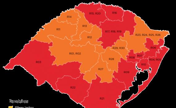 Sete municípios da Região Celeiro voltam a Bandeira Vermelha