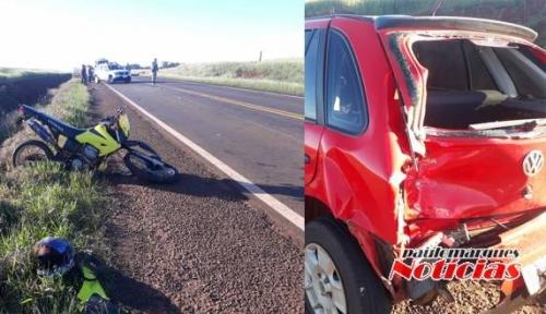 Jovem de 19 anos morre após bater a moto na traseira de automóvel, no Noroeste do RS