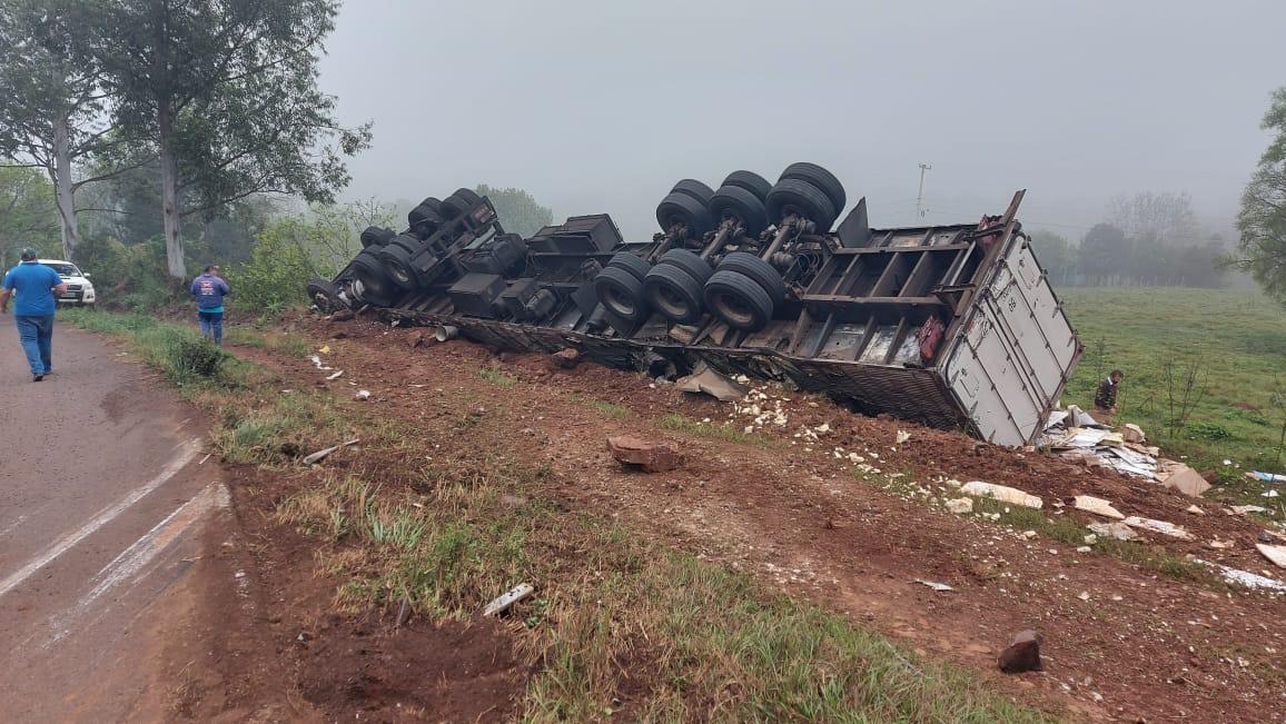 ATUALIZADA: Acidente com vítima fatal no BR 472 entre Tenente Portela e Três Passos